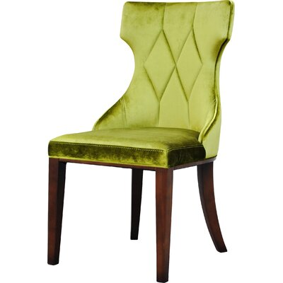Sutherland Leather Side Chair Upholstery: Velvet - Olive Green