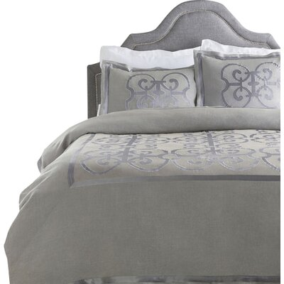 Shetler Duvet Cover Size: Twin, Color: Gray