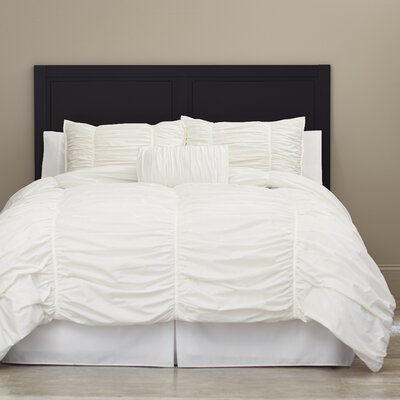 Charlisa 3 Piece Comforter Set Color: White, Size: Twin