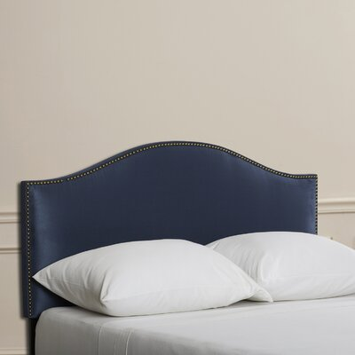 Doleman Nail Button Upholstered Panel Headboard Size: California King, Color: Lazuli