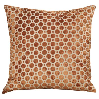 Carlie Velvet Throw Pillow Color: Copper, Size: 18 H x 18 W