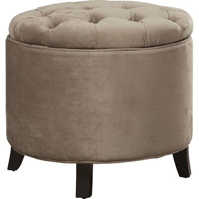 Hargrave Tufted Storage Ottoman Upholstery: Mushroom Taupe