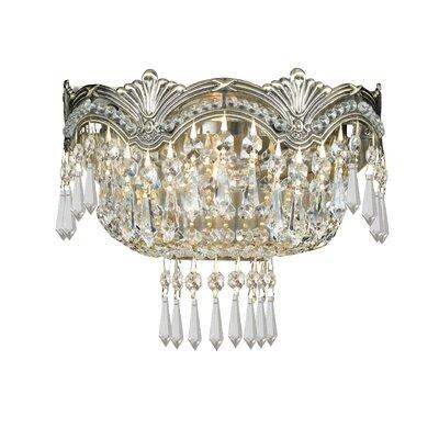 Rupelmonde 2-Light Wall Sconce Crystal: Swarovski Strass