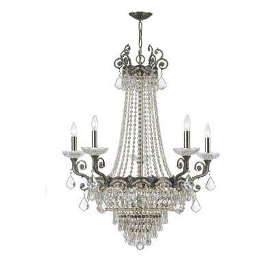 Rupelmonde 13-Light Crystal Chandelier Crystal: Majestic Wood Polish