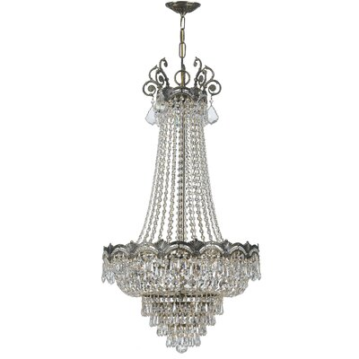 Rupelmonde 8-Light Crystal Chandelier Crystal: Majestic Wood Polish