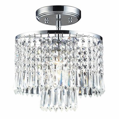 Descoteaux 1-Light Semi Flush Mount