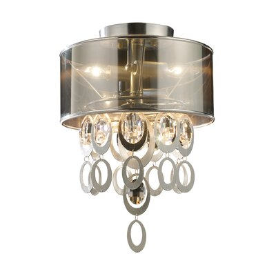 Hiser 2-Light Flush Mount