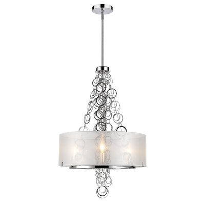 Dezirae 3-Light Drum Chandelier