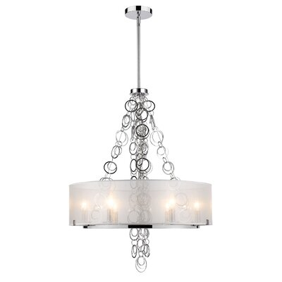 Dezirae 6-Light Drum Chandelier