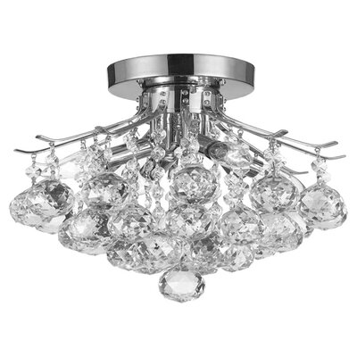 Dyann 4-Light Crystal Semi Flush Mount