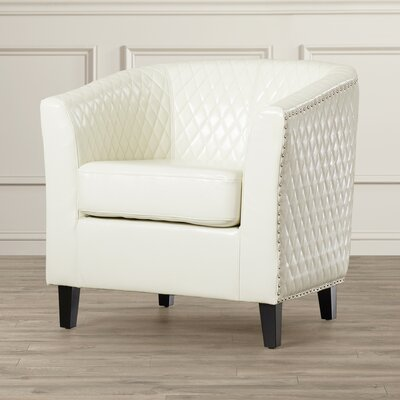 Cisneros Barrel Chair Upholstery: Ivory