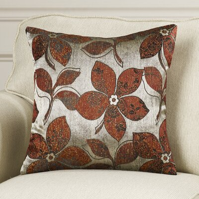 Essex Pillow Cover Color: Burgundy / Silver