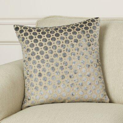 Alton Geometric Velvet Throw Pillow Color: Grey, Size: 20 H x 20 W