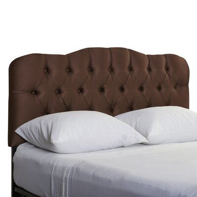 Davina Tufted Shantung Arch Upholstered Headboard Size: Full, Color: Shantung Chocolate