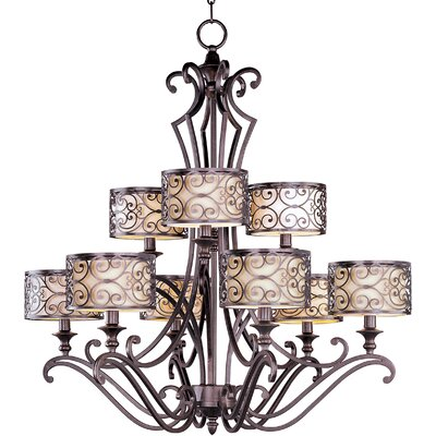 Gidney 9-Light Drum Chandelier