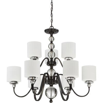Christena 9-Light Shaded Chandelier