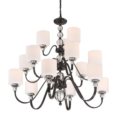 Christena 15-Light Shaded Chandelier