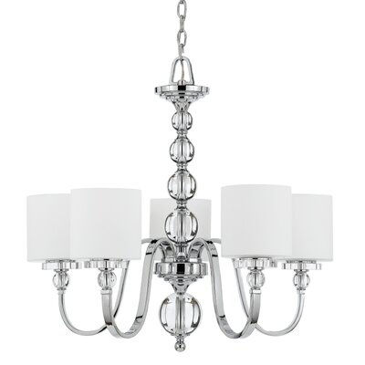Christena 5-Light Shaded Chandelier