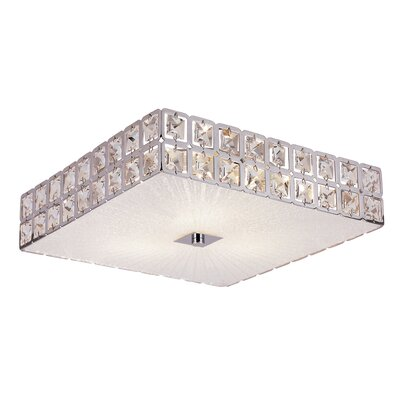 Tanya Contemporary Crystal 3-Light Flush Mount