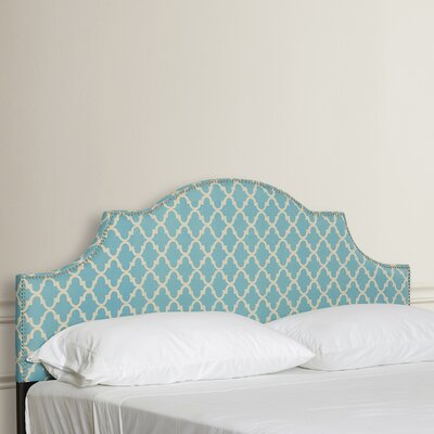 Arched King Upholstered Panel Headboard