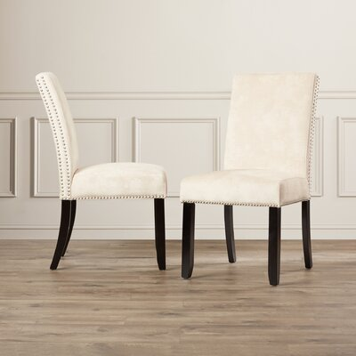 Wantage Parsons Chair Upholstery: Cream