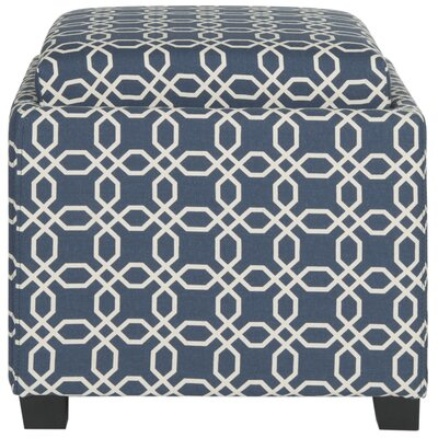 Brandon Single Tray Storage Ottoman Upholstery: Navy