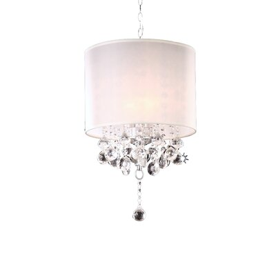 Kitson 3-Light Drum Chandelier