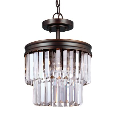 Domenique 2-Light Crystal Shade Flush Mount