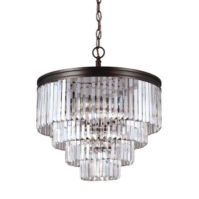 Domenique 6-Light Crystal Chandelier Finish: Burnt Sienna