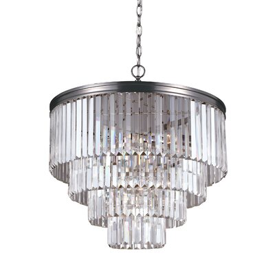 Krenwik 6-Light Crystal Chandelier Finish: Antique Brushed Nickel