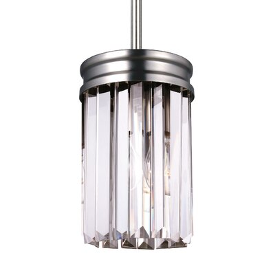 Domenique 1-Light Mini Pendant Finish: Antique Brushed Nickel