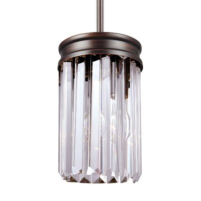Domenique 1-Light Mini Pendant Finish: Burnt Sienna