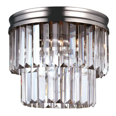 Domenique 2-Light Flush Mount Finish: Antique Brushed Nickel