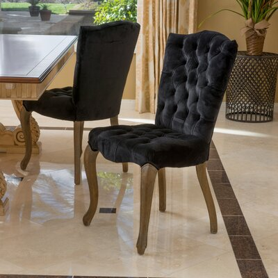 Bovee Side Chair Color: Black