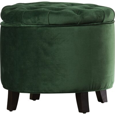 Grover Tufted Storage Ottoman Upholstery: Emerald