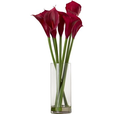 Floral Calla Lilies in Acryllic Water Vase