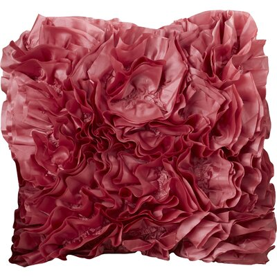 Shields Throw Pillow Size: 18 H x 18 W x 4 D, Color: Cherry