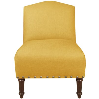 Graven Linen Big Nail Camel Back Chair Color: French Yellow