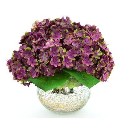 Hydrangea Bouquet in Mercury Glass