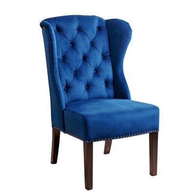 Ceallach Parsons Chair Upholstery: Velvet - Navy Blue