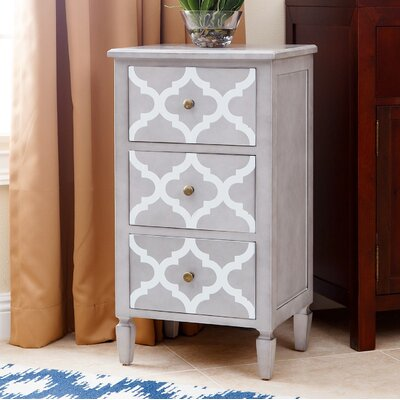 Cathy End Table Finish: Grey / White