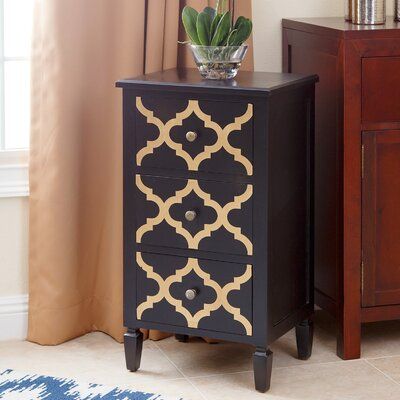 Cathy End Table Finish: Black / Gold