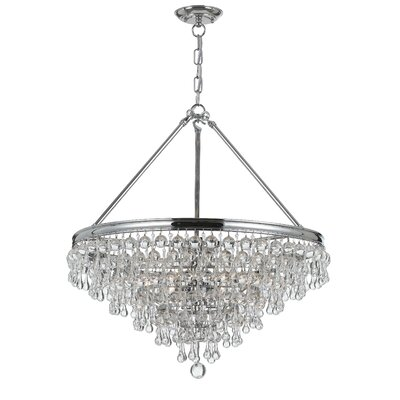 Devanna Traditional 6-Light Crystal Chandelier Finish: Polished Chrome