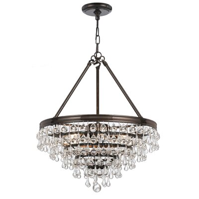 Devanna Traditional 6-Light Crystal Chandelier Finish: Vibrant Bronze