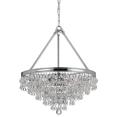 Devanna 8-Light Metal Crystal Chandelier