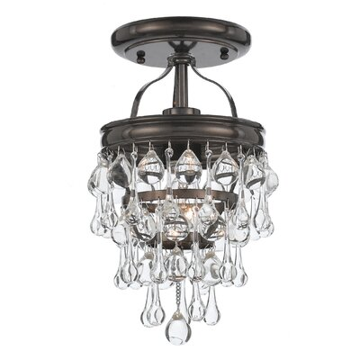 Devanna 1-Light Semi Flush Mount Finish: Vibrant Bronze