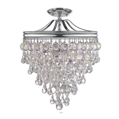 Devanna 3-Light Indoor Semi Flush Mount