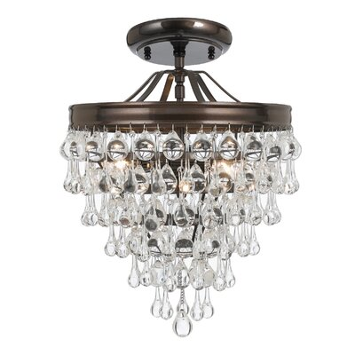 Robertville 3-Light Semi Flush Mount