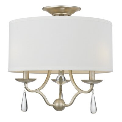 Rochefort 3-Light Semi-Flush Mount