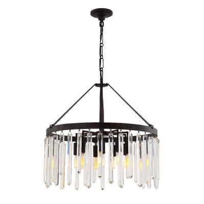 Retinne 10-Light Crystal Chandelier